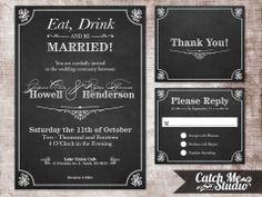 Printable Wedding Invitation DIY Parker by CatchMeStudio on Etsy, $30.00