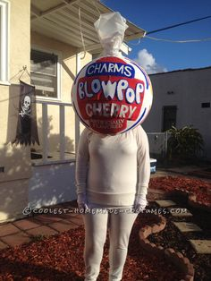 Coolest Homemade Charms Blow Pop Costume... Coolest Halloween Costume Contest