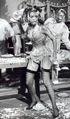"Natalie Wood pie fight - ""Great Race"""