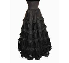 Petticoat long victorian burlesque steampunk by SomniaRomantica, $159.00