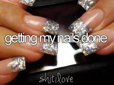 #Nails #Glitter #Manicure #Acrylic #ShitILove