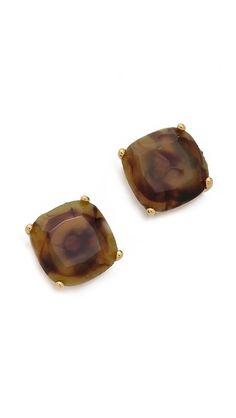 small square stud earrings / kate spade....i loooooooooove these