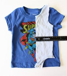 Make your own onesie pattern to turn other t-shirts into onesies. Great idea for baby shower gifts.