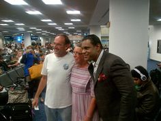 With fans at MIA. On my way to see my daughters at college. Jan 17, 2013