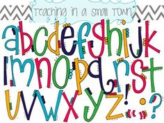 Alphabet Flower Petals Clip Art