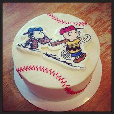 Charlie Brown / Snoopy / Baseball Cake Buttercream Transfer