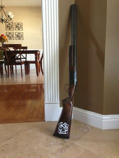No man will want to shoot your gun if you monogram it...it's yours only! :)