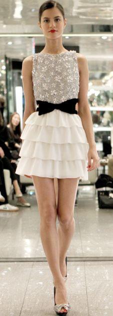 embellished black and white- Vanessa Seward Azzaro Spring 2011 RTW collection
