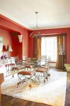 Traditional dining room by Jane Hall Design featured on HGTV