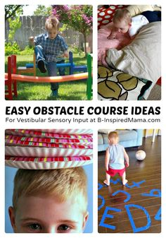 Easy Kids Obstacle Course Ideas + Sensory Processing Disorder  - #kids #parenting #kbn #binspiredmama