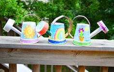 Homemade watering cans for kids by @LiEr -- perfect for mini green thumbs!