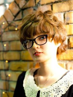 Stylish Curly Japanese Hairstyle 2013