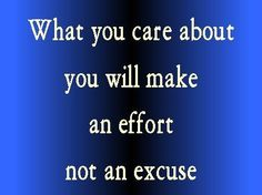 Make an effort if you care