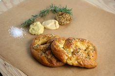 rosemary sea salt soft pretzels