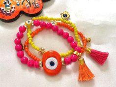 SALE GYPSYS LUCKY Bracelet Evil Eye Jewelry Middle by Nezihe1