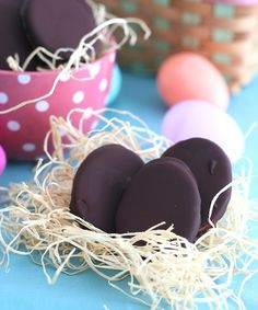 Low Carb Chocolate Peanut Butter Eggs from All Day I Dream About Food