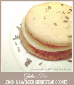 An Easy Real Food Recipe for Gluten Free Lemon Lavender Shortbread Cookies