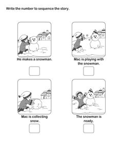 Picture Sequence Worksheet (Snowman)