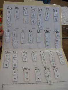 Making Words Folder - perfect DIY version of Fundations tile boards