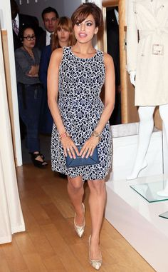 Eva Mendes The actress luanches her own line for New York & Company with a pop-up shop at the Beverly Center in Los Angeles.