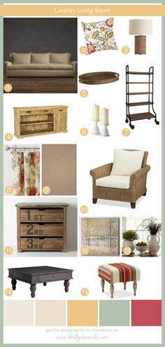 Country Living Room 2 | Design Boards