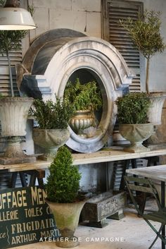 interior design, outside decorations, ateli de, topiari, de campagn, design elements, garden, atelier, french style