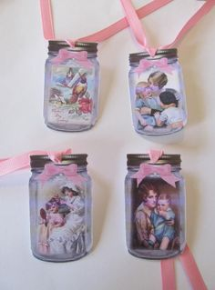Vintage Mothers Day Love in a Jar Gift/HangTags  by Doris2618, $3.00