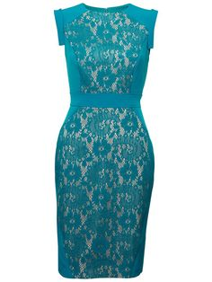 Adrianna Papell Lace Sheath Dress, Teal online at JohnLewis.com - John Lewis