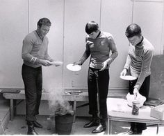 Barbecue on the set of ST:TOS