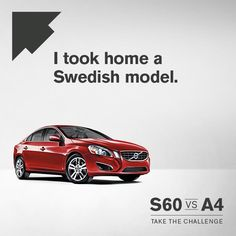 """Repin"" if you've ever taken home a Swedish model. #S60vsA4"