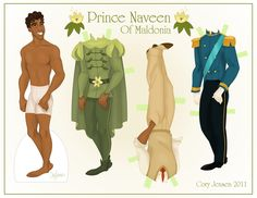 """""""Princess and the Frog"""" paper dolls"""