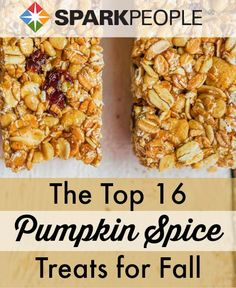 YAYYY for pumpkin season! I want to try all of these!| via @SparkPeople #fall #pumpkin #snack #dessert #treat