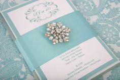 Tiffany Blue Crystal Invitation- Event House Design