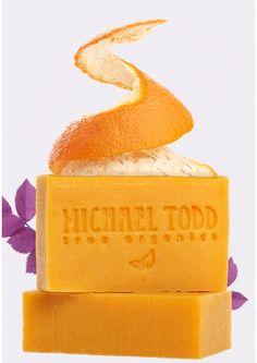 Orange, Tangerine and Lavender Body Soap from Michael Todd True Organics. 85% organic. LOVE LOVE LOVE their soaps <3