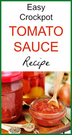 Easy Crock Pot Tomato Sauce Recipe - Seeds of Real Health