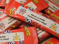 Have a KOOL Valentine's Day!  Kool-Aid on the go! low sugar, valentine treats, valentine day, school counselor, school parties, kool aid, gift idea, kid, water bottles