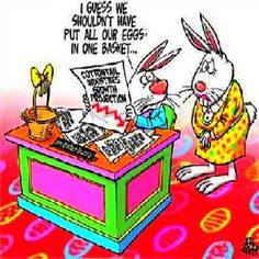 basket, easter eggs, easter joke, nest egg
