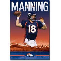 Peyton Manning - Denver Broncos Football Poster