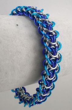 Silver Waters Elfweave Chainmaille Bracelet by EdgeMetalElegance, $45.00