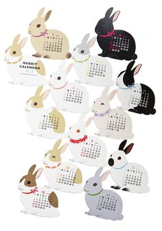 Year of the Critter 2015 Calendar in Rabbit