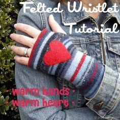 felted wristlet tutorial