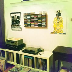 Brad got our Necronomitron / AIDS Wolf gigposter from 2003 & our An Albatross 2006 tour poster guarding his tape collection against faeries.