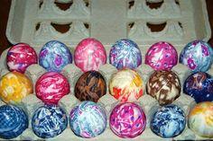 tie-dyed eggs