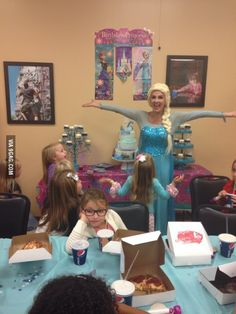 She was unimpressed with Elsa's visit to her friend's birthday party...