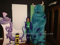 Monsters Inc Family Costume... Coolest Halloween Costume Contest