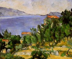 The bay of l'Estaque from the east by Paul Cezanne