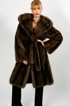 hooded sable fur coat