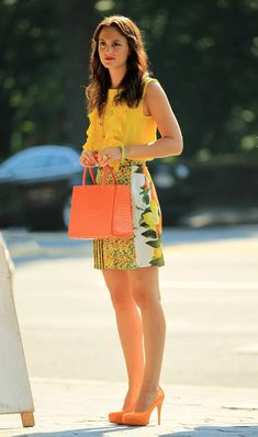 Blair Waldorf in Stella McCartney lemon skirt