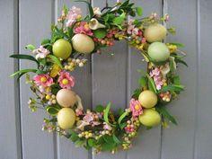 Springtime Easter Egg Wreath