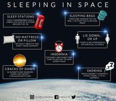 Sleeping in space. #spacelive